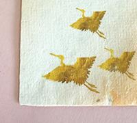 ともしび園 紙漉き